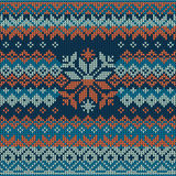 Scandinavian style seamless knitted pattern. Stock Images