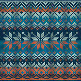 Scandinavian style seamless knitted pattern. Royalty Free Stock Image