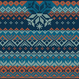 Scandinavian style seamless knitted pattern. Royalty Free Stock Photos