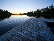 Scandinavian sunset Royalty Free Stock Photos