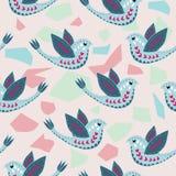 Scandinavian Birdie Pattern Design. stock illustration