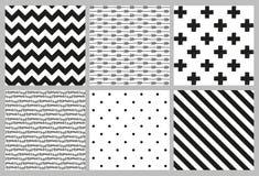 Scandinavian trend seamless patterns Royalty Free Stock Image