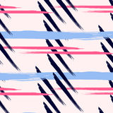 Scandinavian vector pattern with brush strokes. Geometric texture. Abstract background. Trendy fantasy freehand Stock Photography