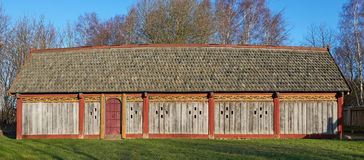 Scandinavian Viking House Stock Photography