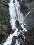 Scandinavian waterfall. Small waterfall near Trollstigen road. Romsdal, Norway Stock Image