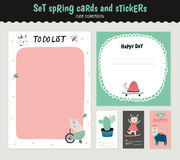 Scandinavian Weekly and Daily Planner royalty free illustration
