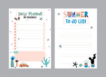 Scandinavian Weekly and Daily Planner Stock Photography
