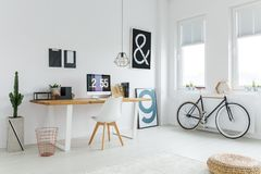 Scandinavian workspace with modern furniture Stock Photography