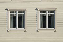 Scandinavian Windows Royalty Free Stock Photo
