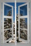Scandinavian winter landscape Stock Photo