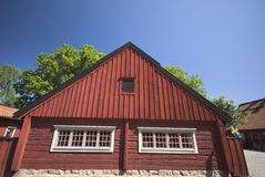 Scandinavian wood house Stock Photos