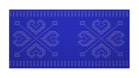 Scandinavian woven pattern. Sweater like royalty free illustration