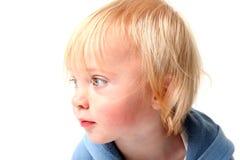Scandinavo isolato ritratto del bambino Fotografia Stock