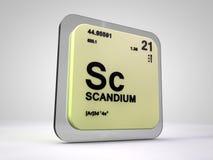 Scandium - Sc - table périodique d'élément chimique Illustration Stock