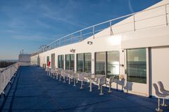 Scandlines färjaKöpenhamn som seglar mellan den danska staden av Gedser och den tyska staden av Rostock arkivfoton