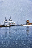 Scandlines Ferry Helsingborg Winter Royalty Free Stock Photography