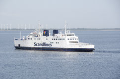 Scandlines ferry on the sea Royalty Free Stock Images