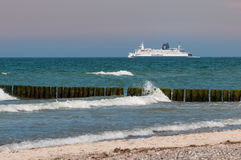 The Scandlines Ferry ship Prins Joakim on the way to gedser, Den Stock Images