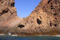 可西嘉岛法国自然保护scandola 免版税库存照片