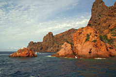 scandola de réserve de la Corse France Photographie stock