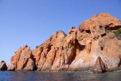 scandola för corsica france naturreserv Arkivbilder