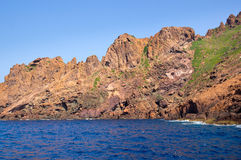 Scandola Nature Reserve, UNESCO World Heritage site, Corsica, Fr. Ance Royalty Free Stock Image