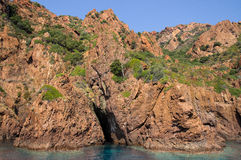 Scandola Nature Reserve, UNESCO World Heritage site, Corsica, Fr Stock Images