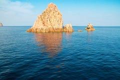 Scandola naturreserv, Korsika, Frankrike arkivfoto