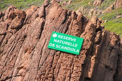 Scandola naturreserv, Korsika, Frankrike royaltyfri fotografi