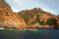 Scandola reserve (Corsica- France) Royalty Free Stock Images