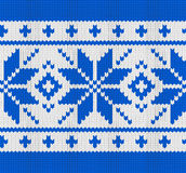 Scandynavian knitted pattern Royalty Free Stock Photos