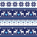 Scandynavian knitted seamless pattern with deer Royalty Free Stock Image