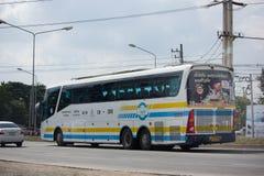 Scania ônibus de 15 medidores da empresa de Sombattour Fotografia de Stock