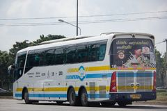 Scania ônibus de 15 medidores da empresa de Sombattour Imagens de Stock Royalty Free