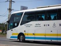 Scania ônibus de 15 medidores da empresa de Sombattour Fotos de Stock Royalty Free