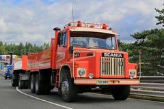 Scania όχημα 141 συνδυασμού για την κατασκευή Στοκ φωτογραφία με δικαίωμα ελεύθερης χρήσης