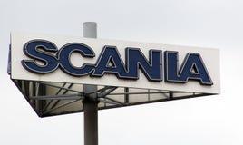 Scania подписывает внутри Париж Францию Стоковые Изображения