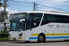 Scania autobús de 15 metros de la compañía de Sombattour Imagenes de archivo