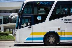 Scania autobús de 15 metros de la compañía de Sombattour Foto de archivo libre de regalías