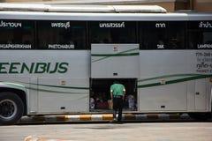 Scania autobus de 15 mètres de société de Greenbus Image libre de droits