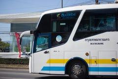 Scania autobus de 15 mètres de société de Sombattour Images libres de droits