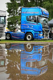 Scania Blue Stream R730 Limited Edition Truck Tractor Royalty Free Stock Photos