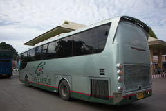 Scania  Bus of Greenbus Company. Royalty Free Stock Image