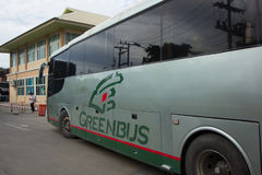 Scania  Bus of Greenbus Company. Royalty Free Stock Photography