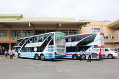 Scania bus of Sombattour Stock Photo