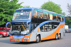 Scania bus of Transport government. CHIANGMAI, THAILAND - APRIL 20 2014: Scania bus of Transport government no.18-1844 route Bangkok and Chiangmai, Class 2 Price Royalty Free Stock Images