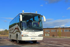 Scania Coach Bus on a parking lot in Paimio, Finland Stock Photography