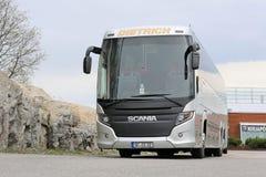 Scania die Bus Bus Parked reizen Royalty-vrije Stock Afbeelding