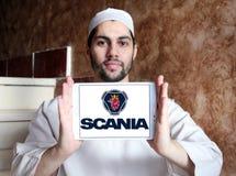 Scania-Firmenlogo Lizenzfreie Stockfotos