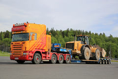 Scania G580 Ready to Haul Large Wheel Loader Stock Photography